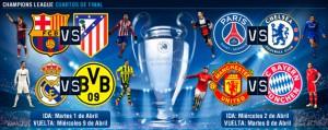Emparejamientos Champions Cuartos